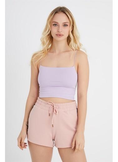 Z Giyim İp Askılı Pamuklu Büstiyer Lila